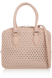 Alaïa Eyelet-embellished leather shoulder bag
