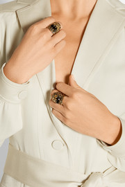 Gucci Gold-plated crystal ring