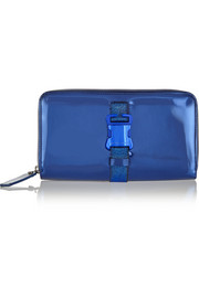 Safety Buckle metallic leather clutch