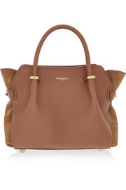 Marché small leather and suede tote