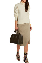 Youkali small nubuck and leather tote