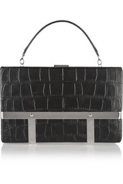 Cage croc-effect leather tote
