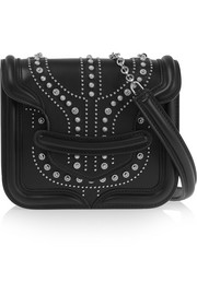 Alexander McQueen The Heroine mini studded leather shoulder bag