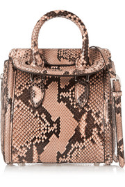 Alexander McQueen The Heroine mini python shoulder bag