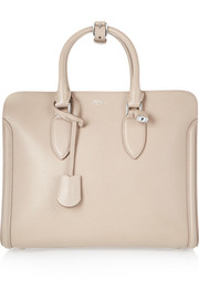 The Heroine textured-leather tote