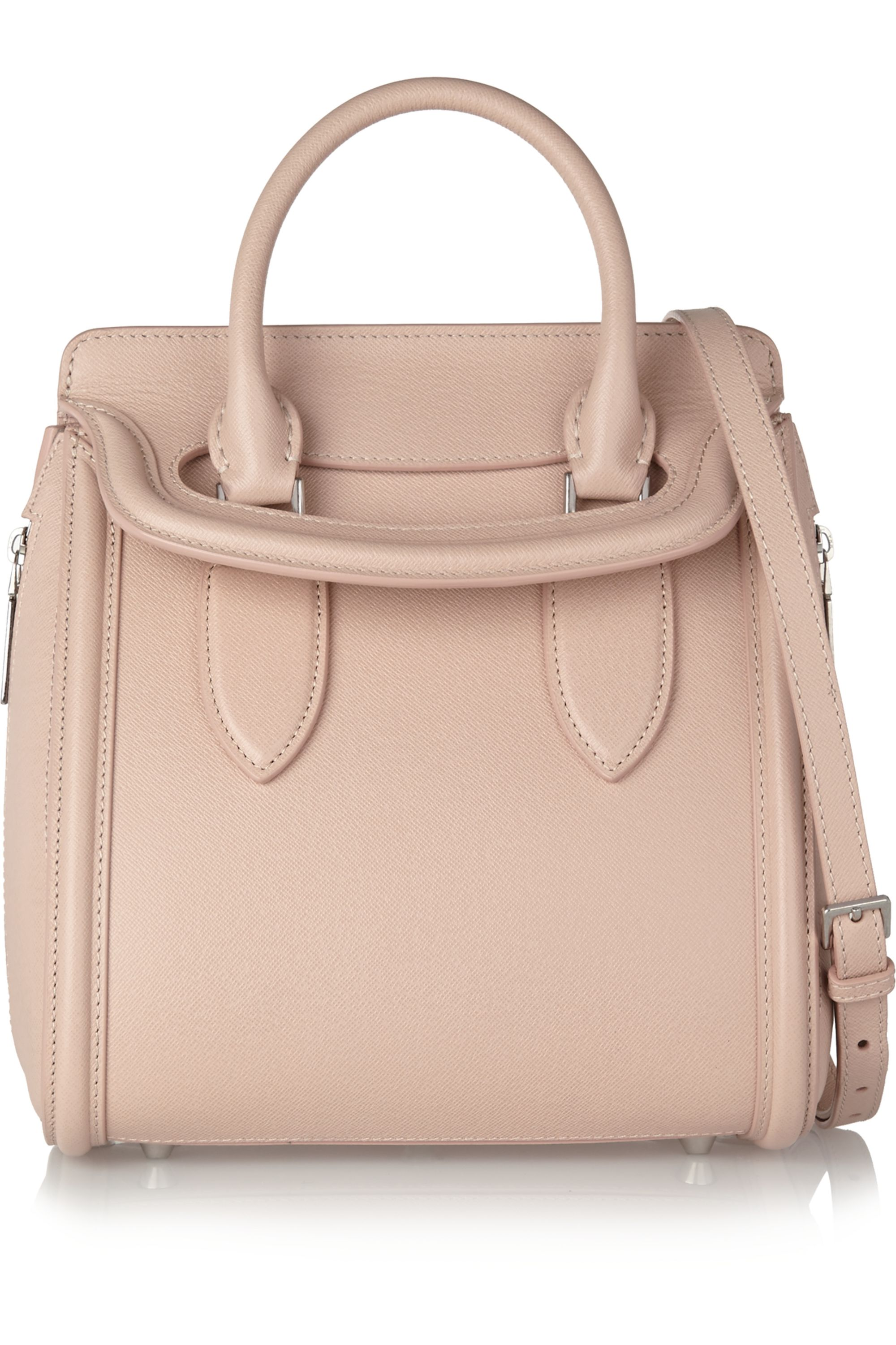Alexander McQueen The Herione small textured-leather tote