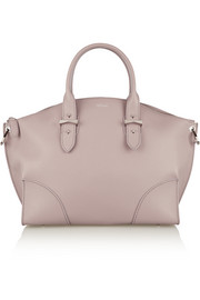 Legend textured-leather trapeze tote
