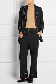 Gucci Silk-trimmed wool-twill blazer