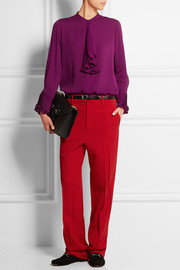 Gucci Ruffled silk-georgette blouse