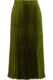 Gucci Pleated satin midi skirt