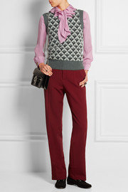 Gucci Jacquard-knit mohair-blend sweater