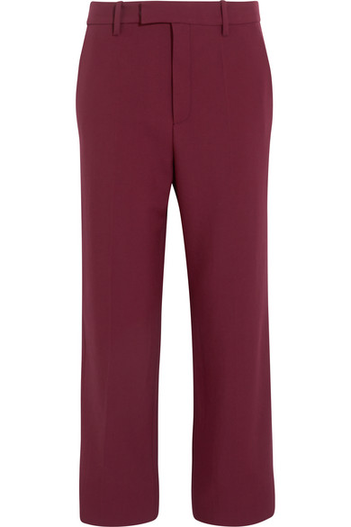 gucci female 124897 gucci wool straightleg pants claret