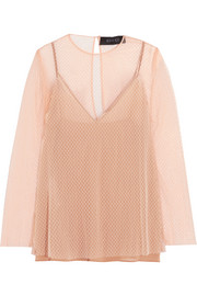 Gucci Embellished point d'esprit top