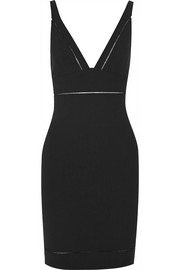 Suzi pointelle-trimmed stretch-jersey dress