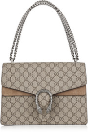 Gucci Dionysus coated canvas and suede shoulder bag