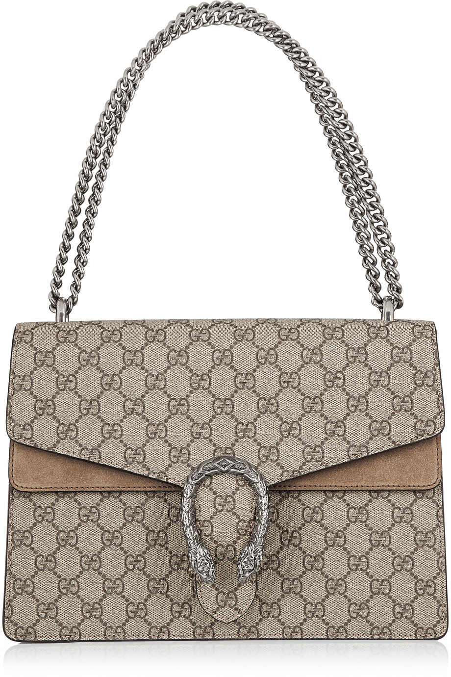 Gucci Dionysus Coated Canvas and Suede Shoulder Bag, Women's