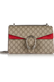 Gucci Dionysus small coated canvas and suede shoulder bag