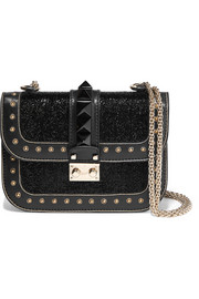 Glam Lock small embellished leather shoulder bag