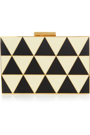 Valentino Triangle enamel and gold-tone box clutch