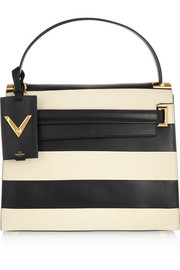 My Rockstud striped leather tote
