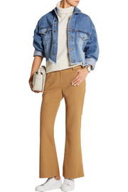 Loren cropped stretch-woven flared pants