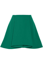 Walt pleated stretch-crepe mini skirt