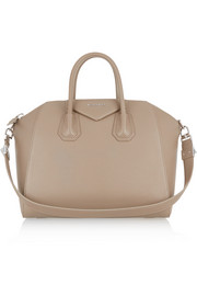 Medium Antigona bag in mushroom textured-leather