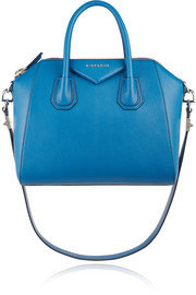 Small Antigona bag in cobalt textured-leather