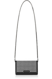 Pandora shoulder bag in studded black leather