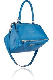Medium Pandora bag in cobalt textured-leather