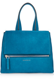 Small Pandora Pure bag in azure suede