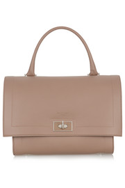 Givenchy Small Shark bag in taupe textured-leather