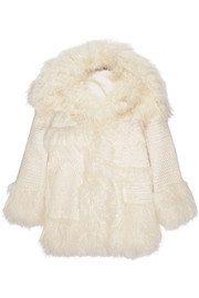 Ramona oversized embroidered faux fur coat
