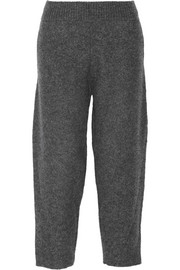 Cropped boiled wool-blend tapered pants