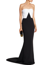 Jules color-block stretch-crepe gown