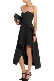 Malia stretch-wool and crepe midi dress