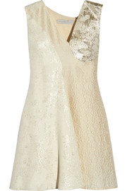 Stella McCartney Anita cloqué and metallic jacquard mini dress