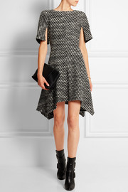 Ayana asymmetric wool-blend tweed mini dress