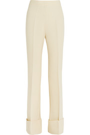 Dakota stretch wool-blend crepe flared pants