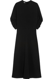 Dana wool-crepe midi dress
