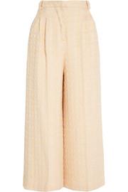 Tabitha bouclé-tweed cropped pants