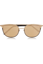 Linda Farrow Round-frame gold-plated mirrored sunglasses