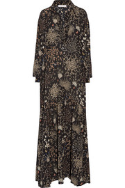 Chloé Printed silk-crepe gown