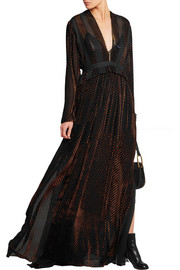 Chloé Devoré-velvet and silk-georgette maxi dress