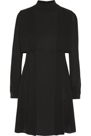 Valentino Cape-effect silk-crepe mini dress