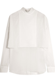Layered silk-georgette blouse