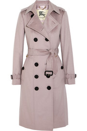 Brushed-cashmere trench coat