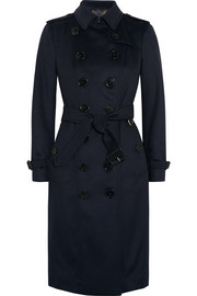 London brushed-cashmere trench coat