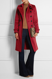 Burberry London Brushed-cashmere trench coat