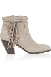 Louie fringed suede ankle boots